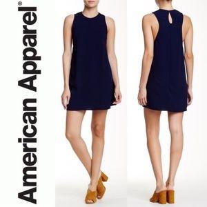 American Apparel Dakota Sleeveless Dress Indigo LG